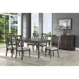 Lockwood Dining Set with Double X-Back Wood Chairs by Greyson Living