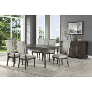 Lockwood Dining Set with Upholstered Side Chairs by Greyson Living