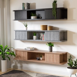 Link to Copper Grove Tetritsqaro Floating Wall-mounted Media Console Similar Items in Bookshelves & Bookcases