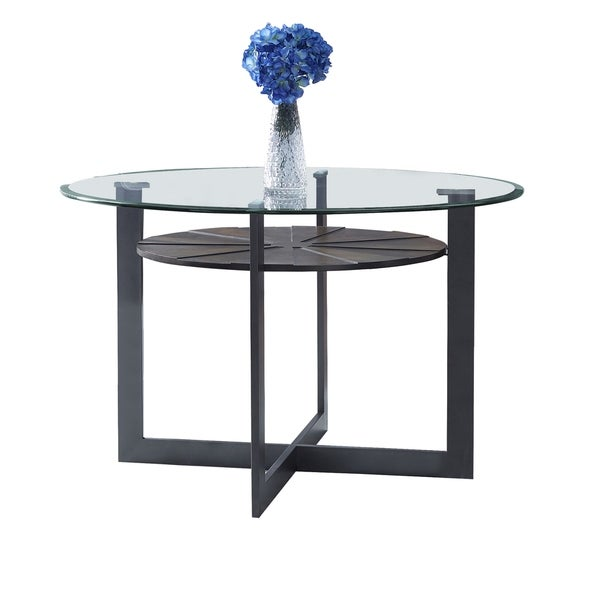 Orrick 48-Inch Round Glass Top Dining Table by Greyson Living - Charcoal. Opens flyout.