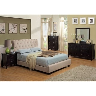 Williams Home Furnishing Lemoore California King  Bed in Beige Finish