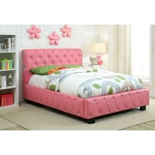 Williams Home Furnishing Julliard Full  Bed in Pink Finish