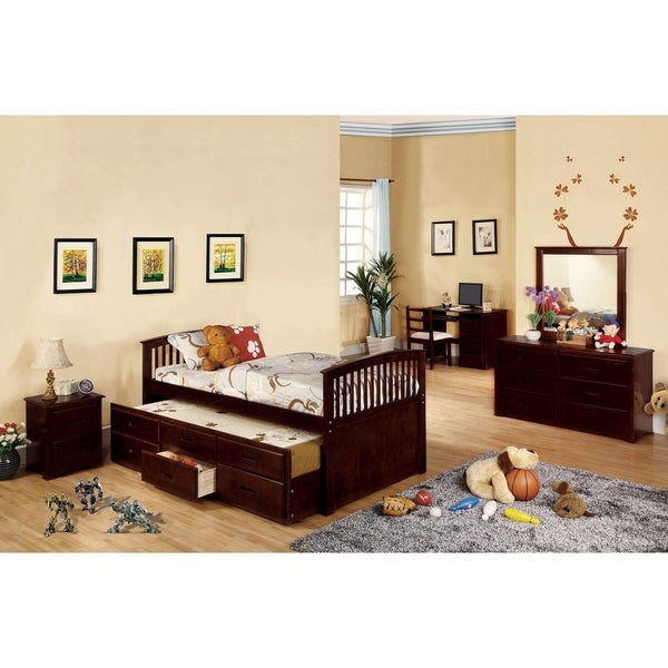 Williams Home Furnishing Bella II King Bed in Dark Walnut Finish
