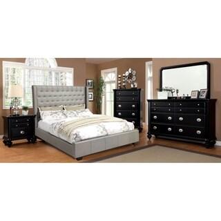 Williams Home Furnishing Mira California King  Bed in Silver Finish
