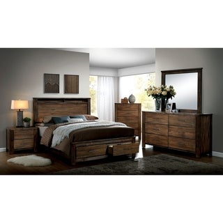 Williams Home Furnishing Elkton California King  Bed in Oak Finish