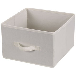 Household Essentials Set of 2 Drawers for Hanging Shelf Closet Organizers | Natural Canvas Fabric Bin with Handle