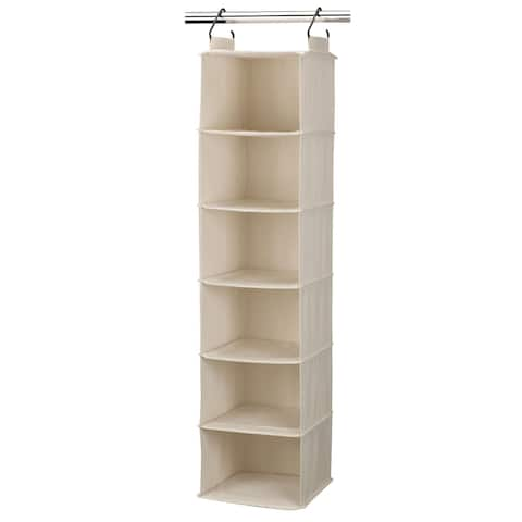Household Essentials Cotton Canvas Hanging Closet Sweater Organizer