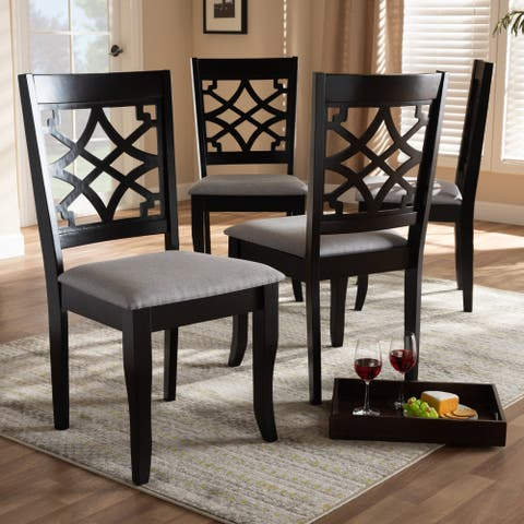 Modern and Contemporary Fabric 4-Piece Dining Chair Set