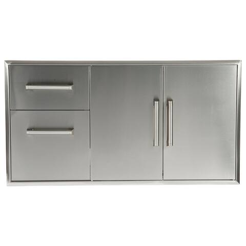 Combo Drawers - Two Drawers with Double Access Doors