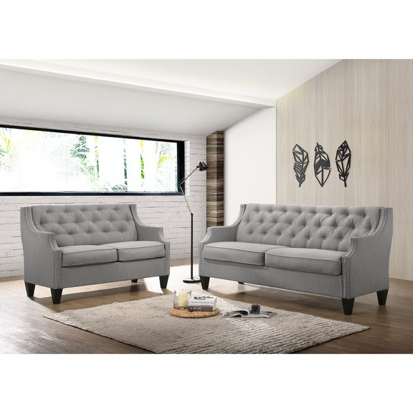 Shop best quality furniture 2 piece velvet tufted sofa and - Best quality living room furniture ...