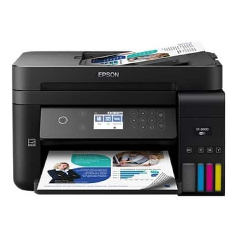EPSON Workforce ST-3000 ECOTANK Color MFP Supertank Printer, Multi-function Color Printer, C11CG20202