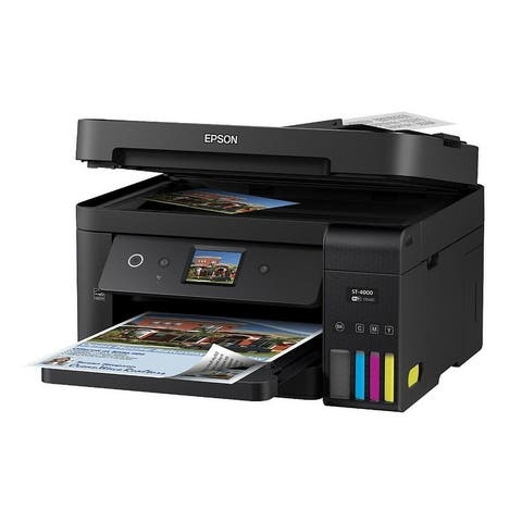 EPSON Workforce ST-4000 ECOTANK Color MFP SuperTank Printer, Multi-Function Printer, Color, C11CG19202