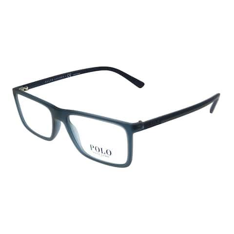 Polo Ralph Lauren PH 2178 5644 53mm Unisex Vintage Crystal Blue Frame Eyeglasses 53mm