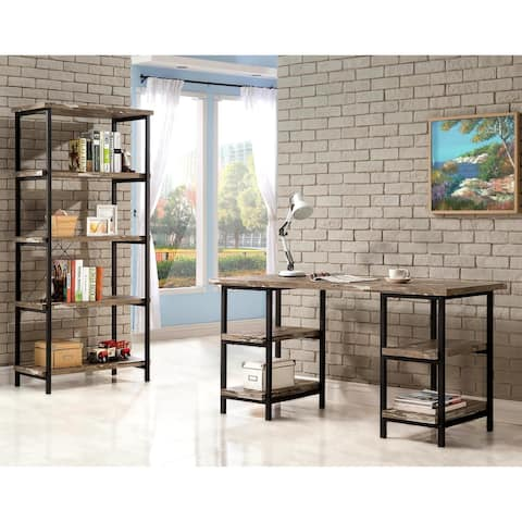 Rustic Design Metal Frame and Salvaged Cabin Finish Home Office Collection