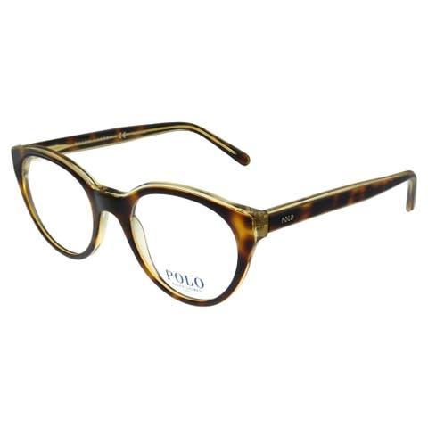 Polo Ralph Lauren PH 2174 5637 51mm Unisex Havana on Crystal Frame Eyeglasses 51mm