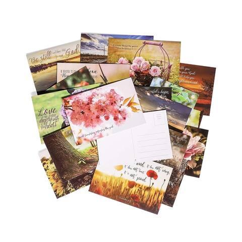 "40-Pack Christian Motivational Inspirational Bible Scripture Post cards 4""x6"""