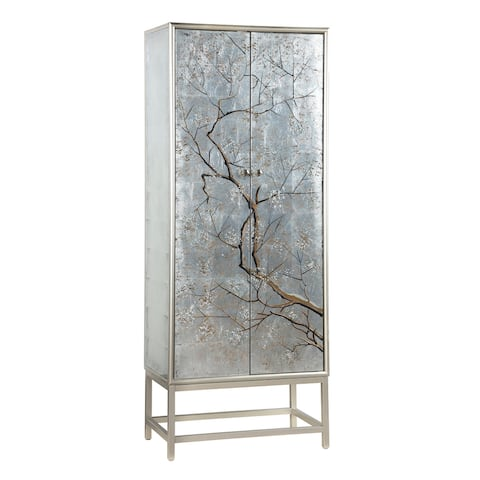 "Somette Two Door Tall Wine Cabinet - 28""L x 16""W x 72""H"