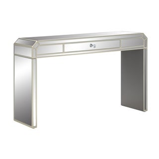 "Somette Reflections One Drawer Console Table, Champagne - 48""L x 14""W x 29.5""H"