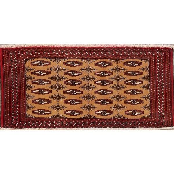 "Turkoman Hand Knotted Wool Persian Oriental Area Rug - 1'8"" x 3'4"""