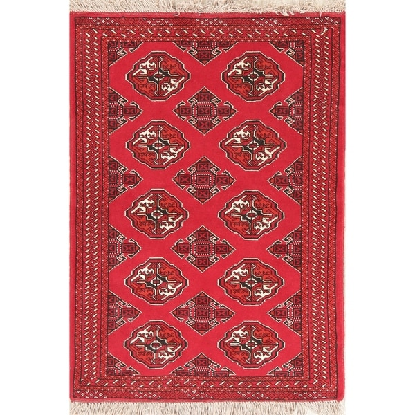 "Balouch Hand Knotted Wool Persian Oriental Area Rug - 4'7"" x 3'4"""