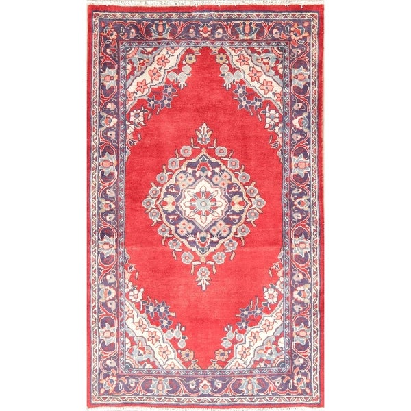 """Mahal Oriental Hand Knotted Vintage Persian Wool Area Rug - 6'0"""" x 3'6"""""""