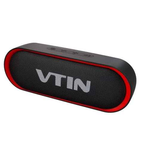 VTIN R4 Portable Wireless Bluetooth Speaker Outdoor Speakers with Rich Bass Built-in Mic & TF Card Compatible for Phone Tablet