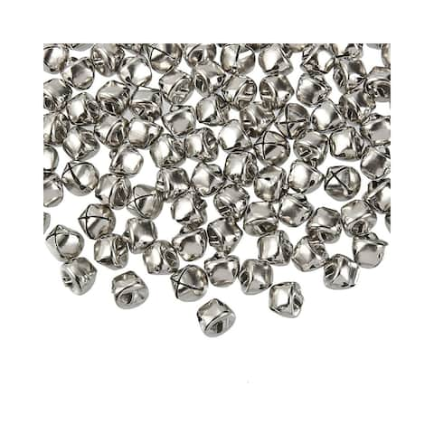 """200 Jingle Bells, Silver Christmas Bell, 0.5"""" Beads for Decoration DIY Crafts"""