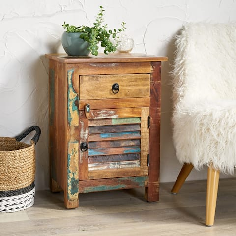 Laveer Wooden Side Table with Drawer by Christopher Knight Home