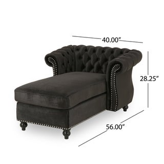 Link to Lancelot Modern Glam Velvet Chesterfield Chaise Lounge by Christopher Knight Home Similar Items in Living Room Chairs