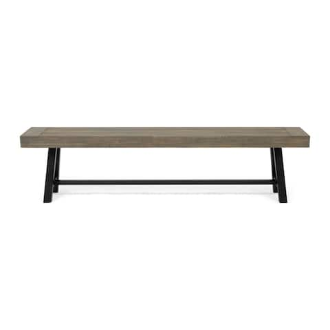 Carlisle Outdoor Acacia Wood Bench by Christopher Knight Home