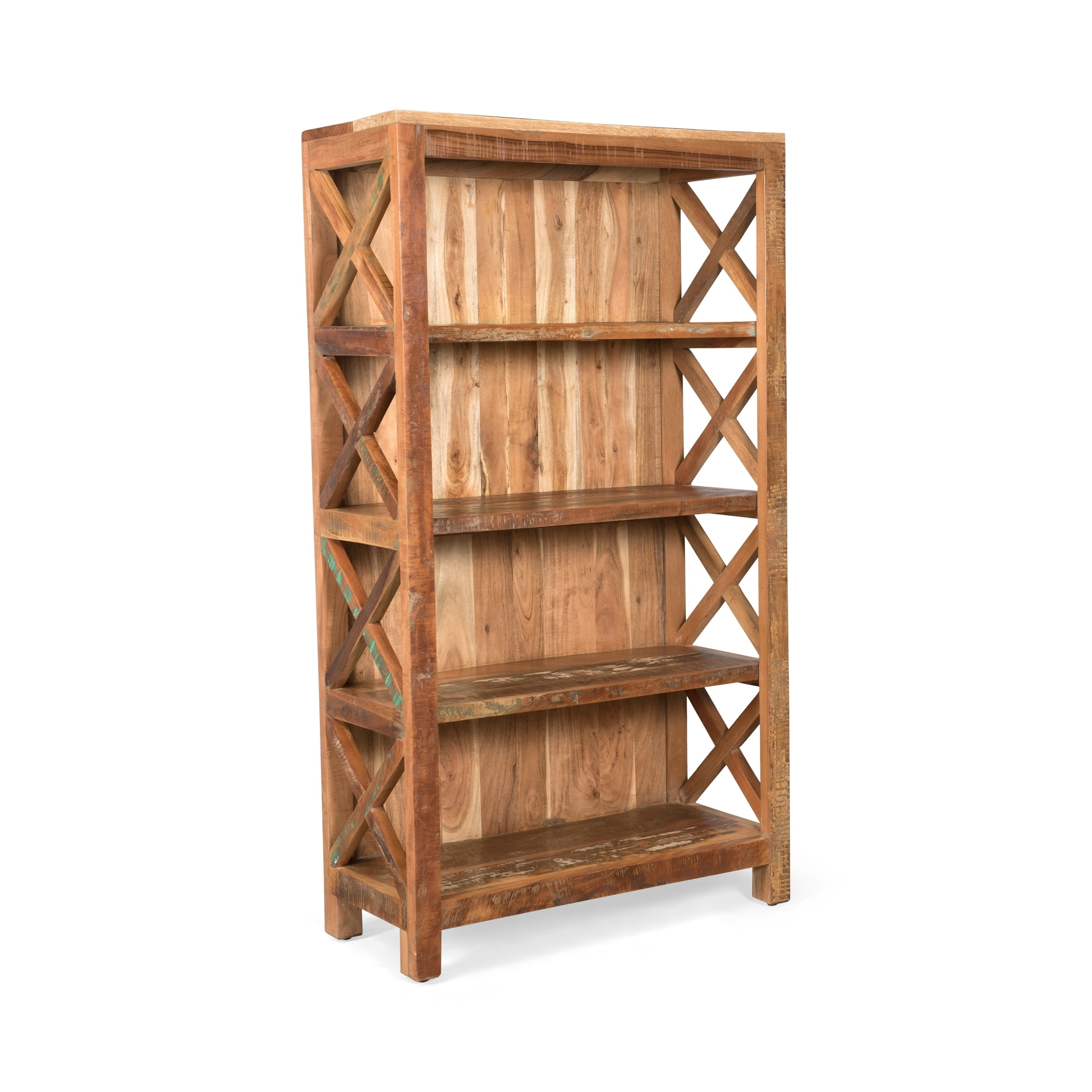 Altman Distressed Wood Book Shelf By Christopher Knight Home