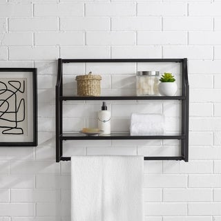 Link to Copper Grove Vertou Oil-rubbed Bronze Wall Shelf Similar Items in Bath