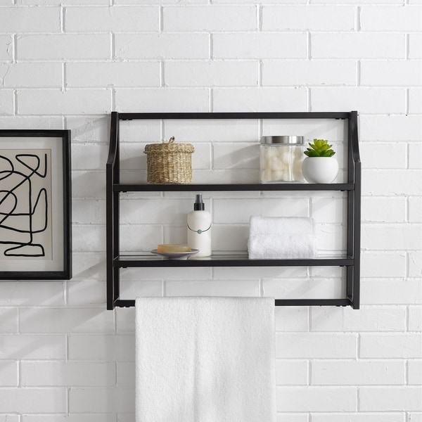 Copper Grove Vertou Oil-rubbed Bronze Wall Shelf. Opens flyout.