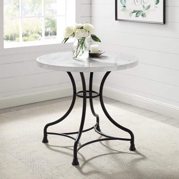 shop carbon loft davidson 32-inch round dining table