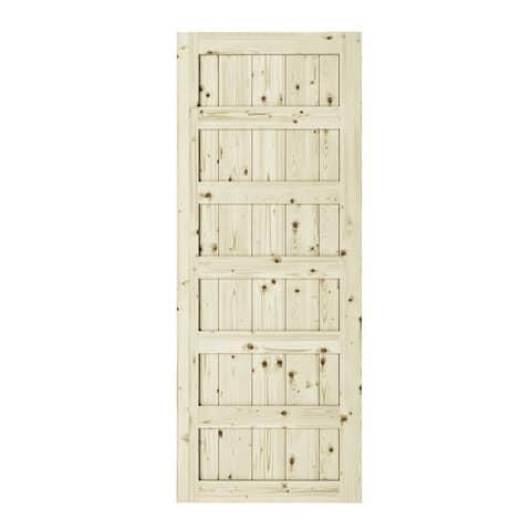 Shaker 6 Panel Barn Door 42 in