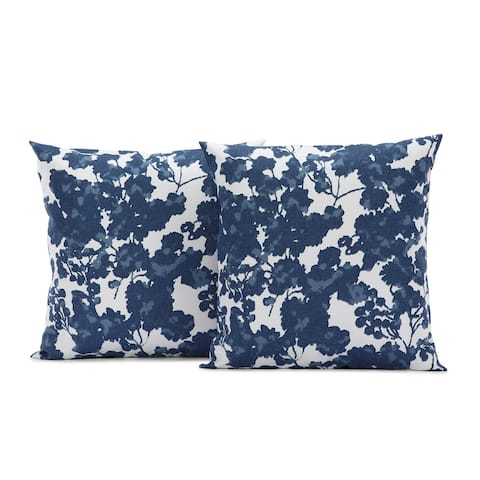 Exclusive Fabrics Fleur Printed Cotton Cushion Cover (Sold As Pair)