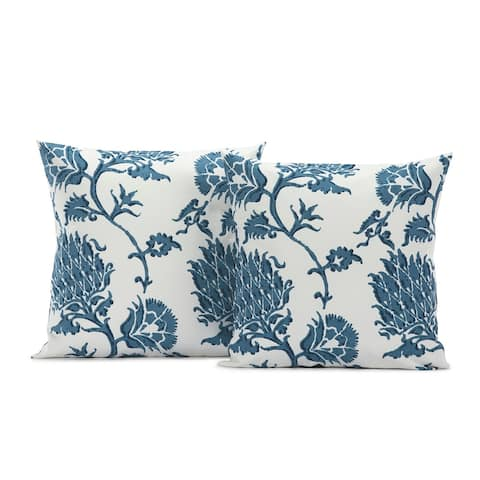 Exclusive Fabrics Duchess Printed Cotton Cushion Cover (Sold As Pair)