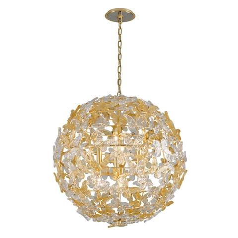 Milan Garden by Martyn Lawrence Bullard 32-inch Gold Leaf Globe Pendant