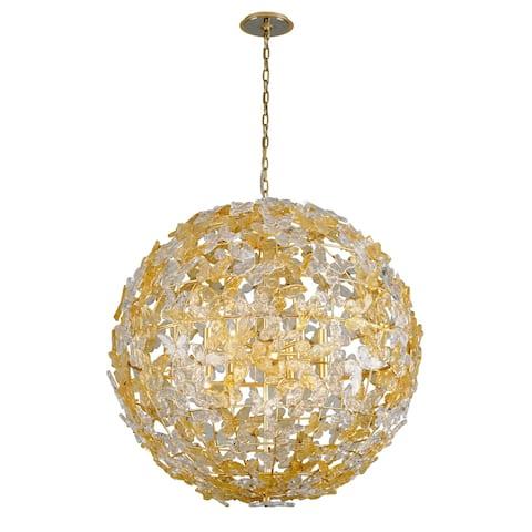 Milan Garden by Martyn Lawrence Bullard 42-inch Gold Leaf Globe Pendant