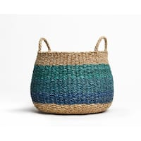 """Fab Habitat Harlem - Blue Storage Basket - Extra Large - 16"""" x 18"""""""