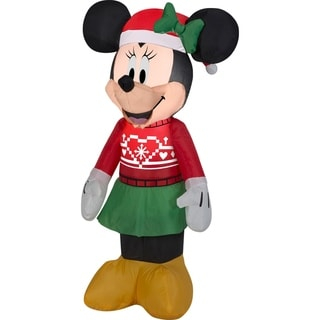 Link to Airblown Inflatables 2 ft. W x 1 ft. D x 4 ft. H Minnie In Sweater Similar Items in Christmas Decorations