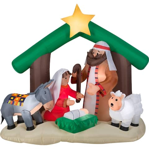 Airblown Inflatables 7 ft. W x 6 ft. H Holy Family Nativity Scene