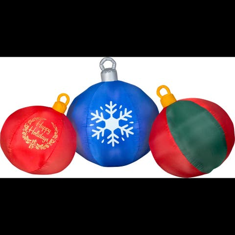Airblown Inflatables 8 ft. W x 4 ft. D x 4 ft. H Round Ornament Scene