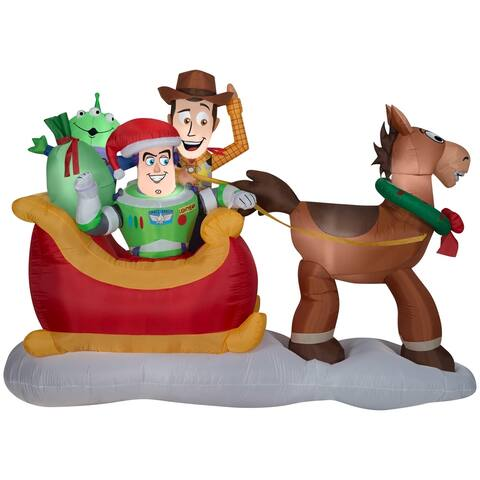 Gemmy Airblown 'Toy Story' Inflatable Plug-in Sleigh - White