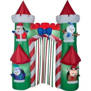 Link to Airblown Inflatables 7 ft. W x 3 ft. D x 9 ft. H Santa Castle Archway Similar Items in Christmas Decorations