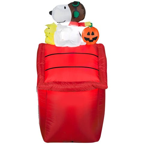 Airblown Inflatables 2 ft. W x 2 ft. D x 4 ft. H Red Snoopy Flying Ace