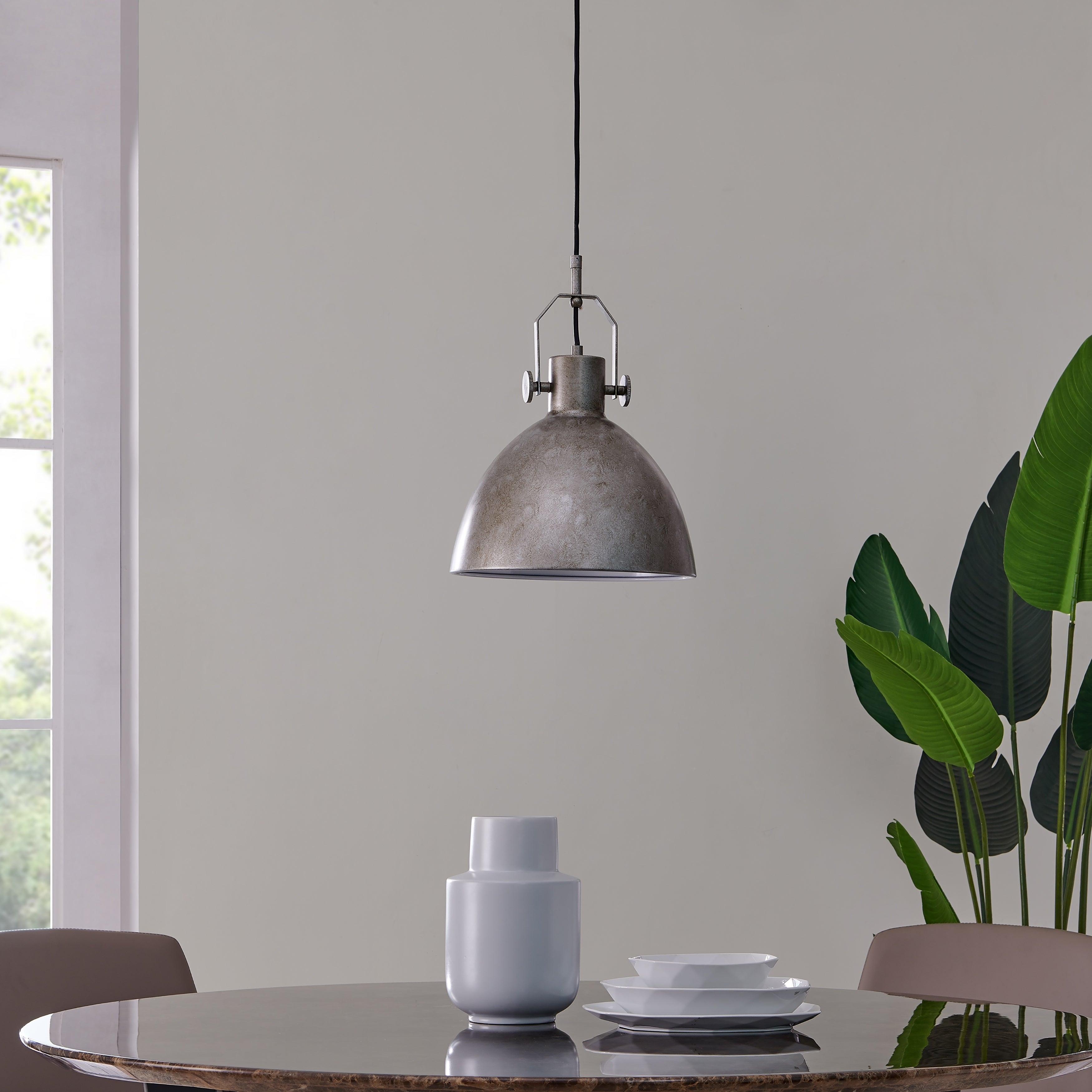 Shop Carbon Loft Almsford Industrial Antique Silver Pendant Light Overstock 28573949
