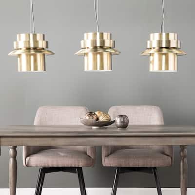 Carson Carrington Allerford Midcentury Modern Brass Metal Pendant Lights (Set of 3)