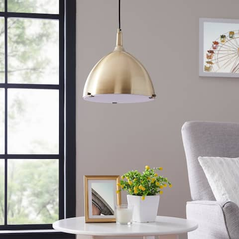 Carson Carrington Carlow Midcentruy Modern Antique Brass Pendant Light