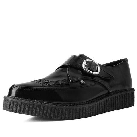 Hi Shine Pointed Buckle Anarchic Creeper Shoes